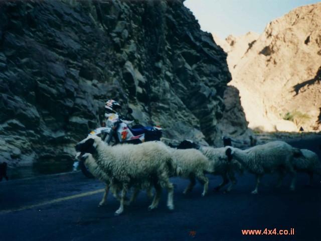 הדרך לסנטה קתרינה סלולה באספלט אדום, כמו ההרים שמסביב