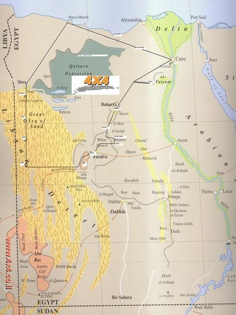 על המפה שורטט בקו שחור מסלול המסע: