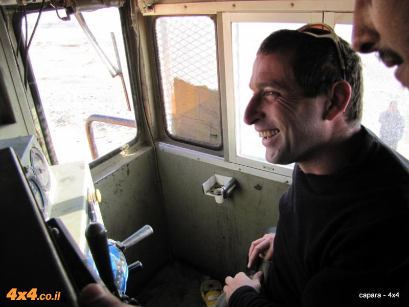 תמונות שצולמו בינואר 2011 במסעף של הרכבת לכיוון עקבה בתחנת ההטענה ב- באטן רול