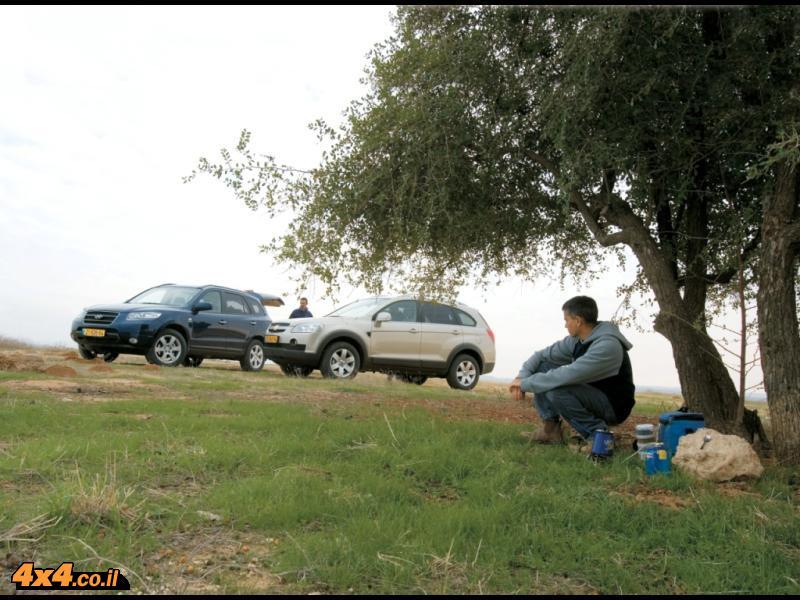 יונדאי סנטה-פה במבחן השוואתי מול שברולט קפטיבה