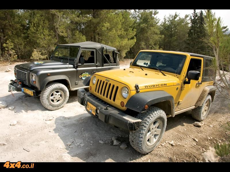 ג'יפ רנגלר רוביקון מול דיפנדר 90 הישרדות Jeep v. Defender