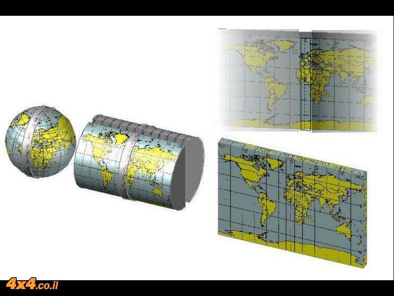מפת Transverse Mercator-השיטה למפת ישראל, UTM ועוד...