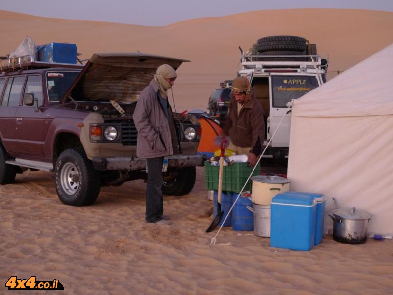 שינה במדבר