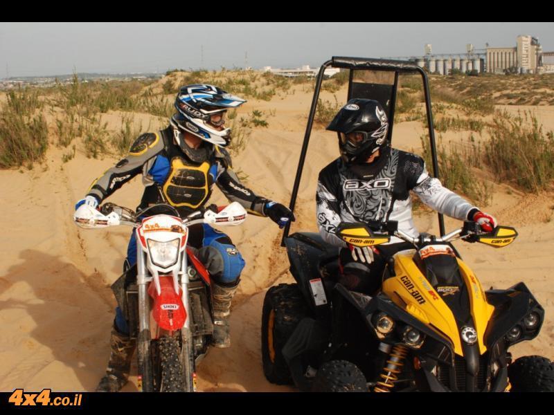 אופנוע מול טרקטורון , מה עדיף לסהרה?