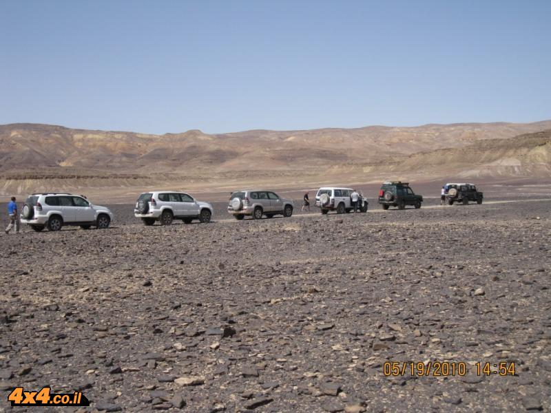 היום הראשון - הטיפוס מזרחה לרמת המדבר