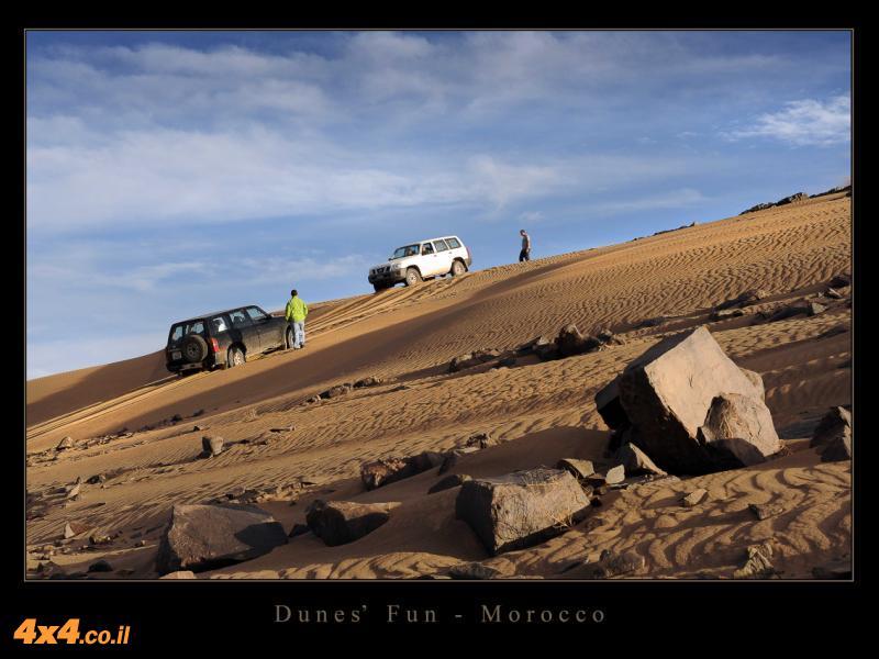 שילוב בין חול לבין סלע במעבר בין הרי האטלס לדיונות של הסהרה