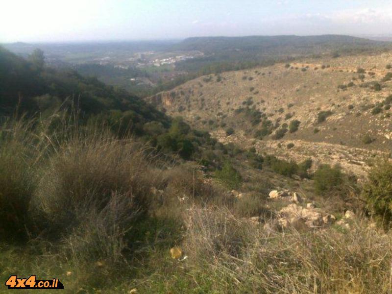 מסלול טיול סובב בית מאיר - מאשתאול להר כרמילה ולשלוחת המשלטים