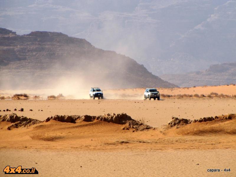 הפנים מזרחה - מתקדמים מאזור ואדי ראם אל עבר רמת המדבר המזרחית