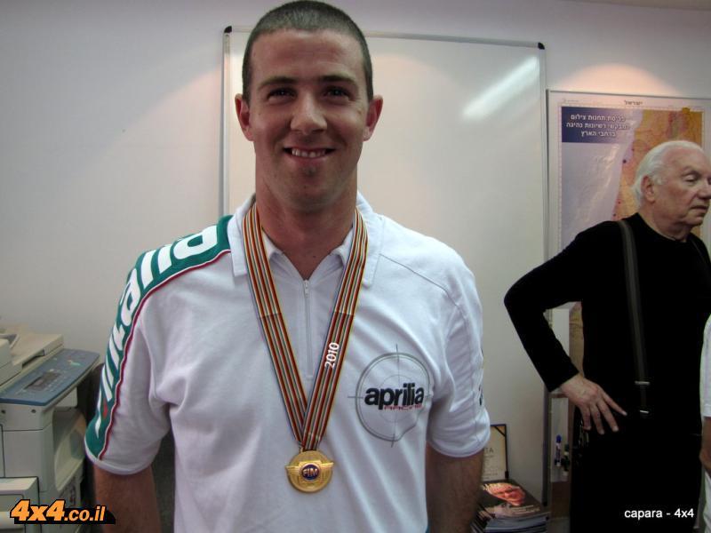 יוני לוי זוכה במדליית הזהב