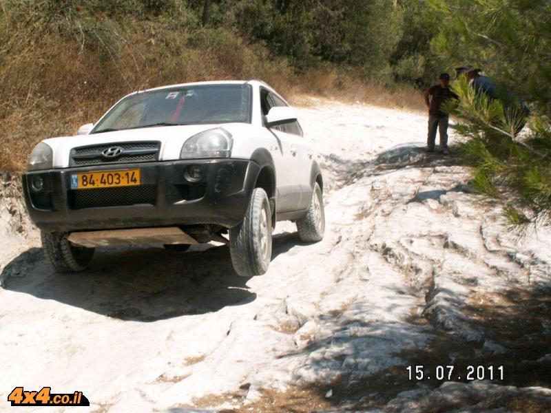 תמונות מהדרכת נהיגה בשטח טרשי - הר חורשן, 15.7.2011