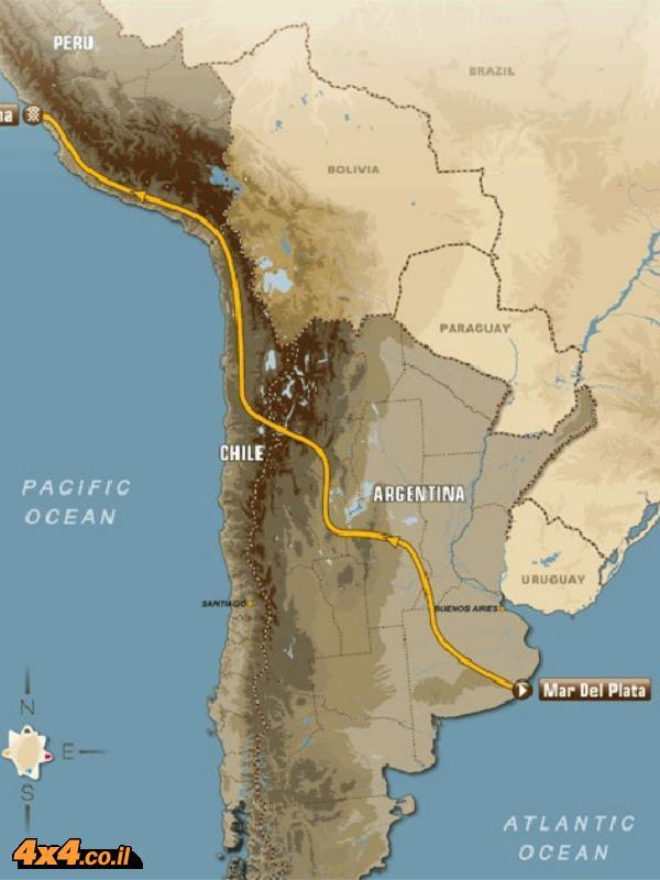 מפת המרוץ