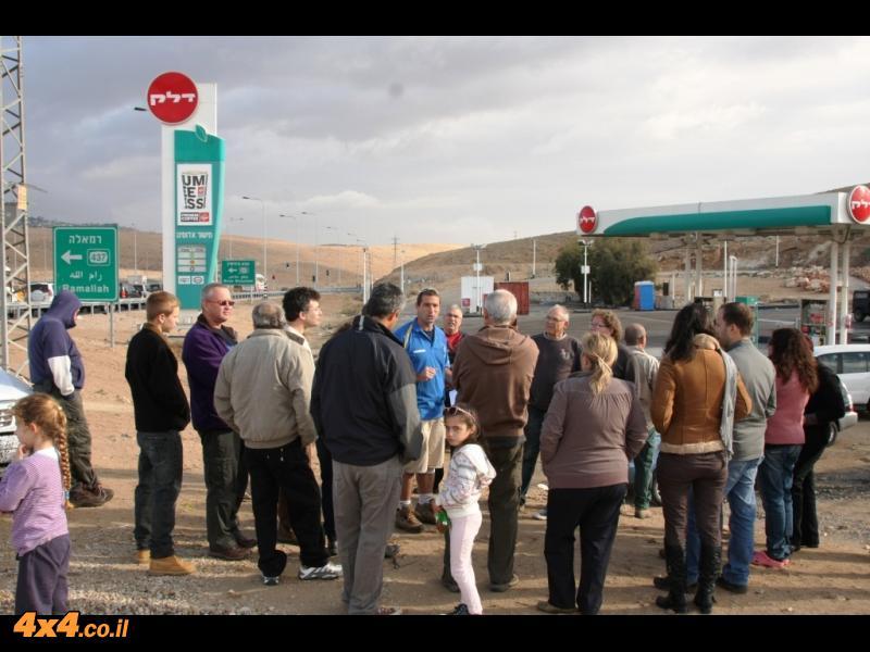 התחלנו בתחנת הדלק של מישור אדומים...