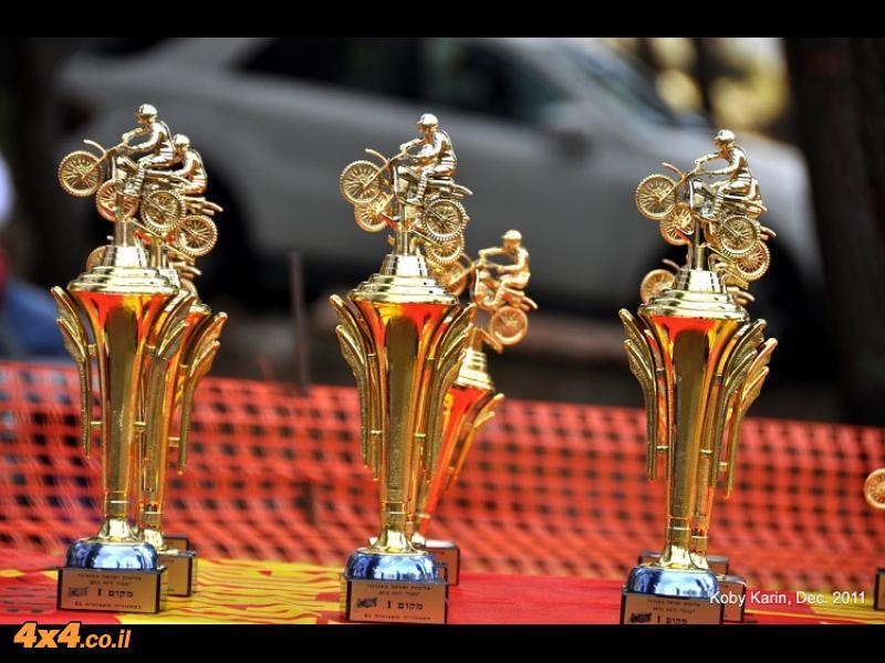 טקס חלוקת הגביעים על המרוץ שהתקיים בנגבה
