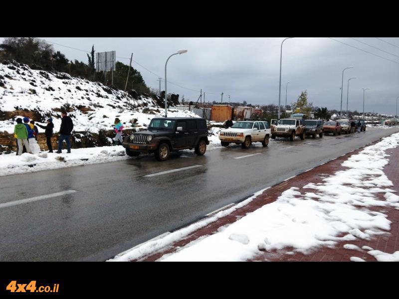 מועדון ג'יפ בשלג של הרי יהודה - ינואר 2015