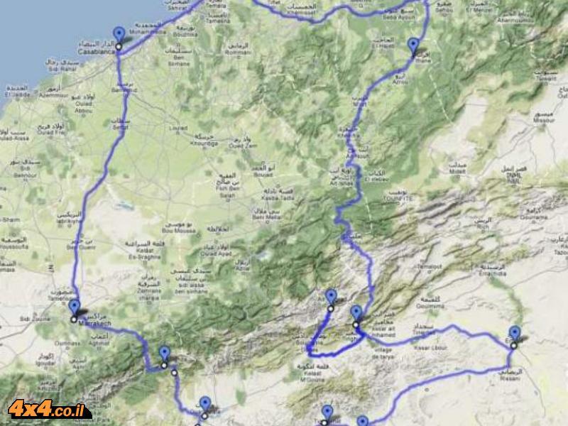 מרוקו - טיול אופנועי כביש טורינג - סובב הרי האטלס 2012