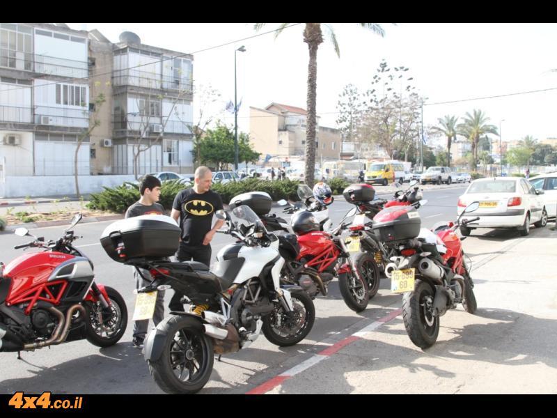 מועדון אופנועי דוקאטי בטיול לחבל הבשור