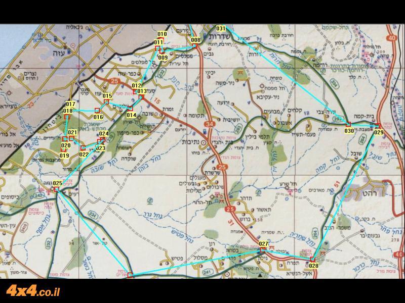 מפת המסלול - 250 ק