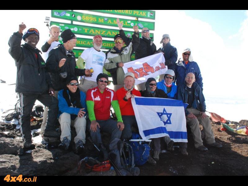 על פסגת הקילימנג'רו 5,896 מטרים