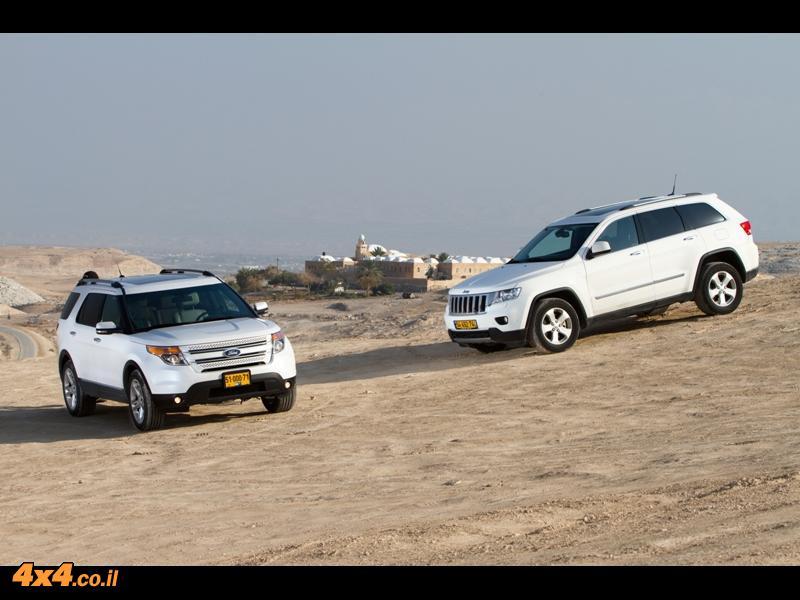 פורד אקספלורר Ford מול ג'יפ גרנד-צ'רוקי Jeep