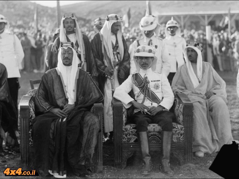 אמיר סעוד יחד עם טלאל בן עבדאללה, עמאן 1935