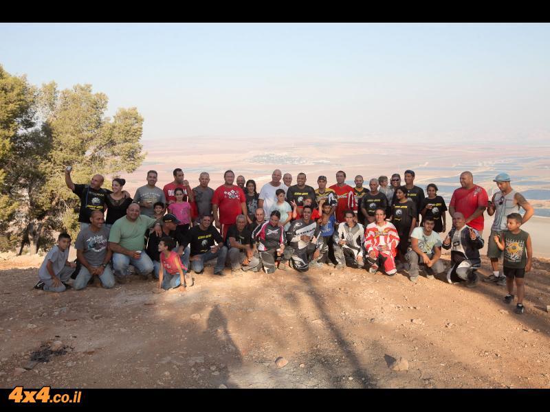 תצלום קבוצתי מהר שאול שעל הגלבוע לעמק בית שאן