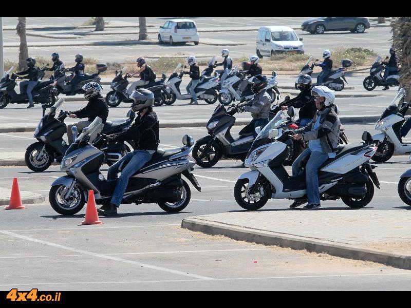 קטנועים: קורס רכיבה לקטנועים מס' 2 לרוכבי סאן יאנג וימאהה