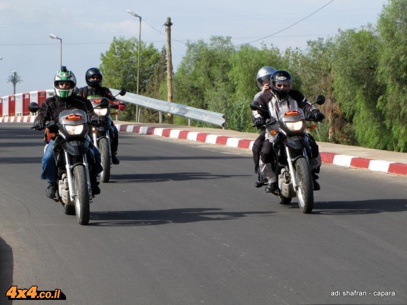 מכינים את האופנועים, מתדרכים ויוצאים לדרך