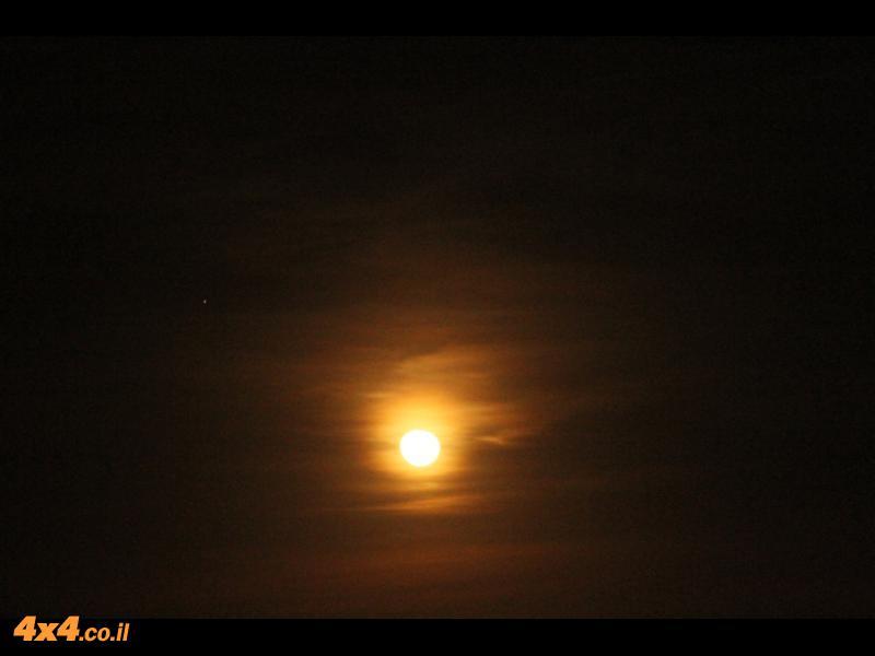 ירח מדהים בסוף היום השלישי עם 460 ק''מ על האודומטר