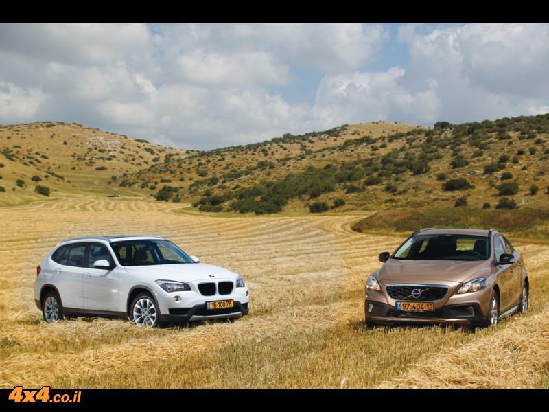 מבחן השוואתי - ב.מ.וו BMW X1 מול וולוו VOLVO V40