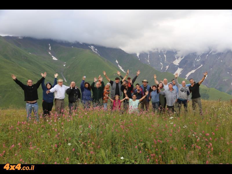 היום הרביעי - בראש ההר מעל מעבר ההרים של הקווקז הגבוה