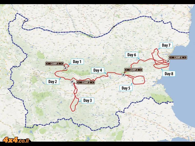 מפת מסלול ראלי ברסלאו 2013