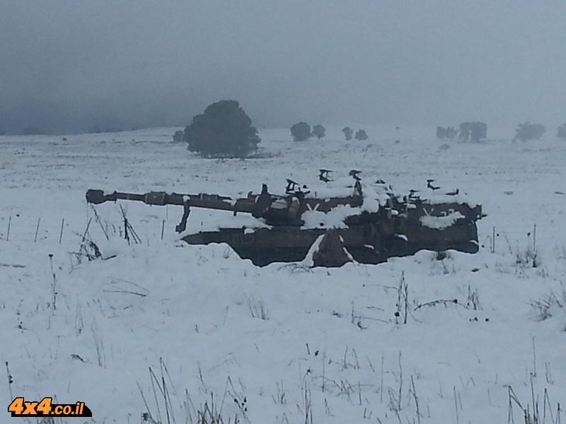 הטנקים נעלמים בשלג