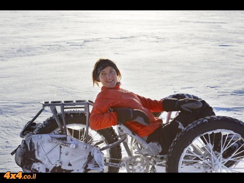 אל הקוטב הדרומי – עם אופניים