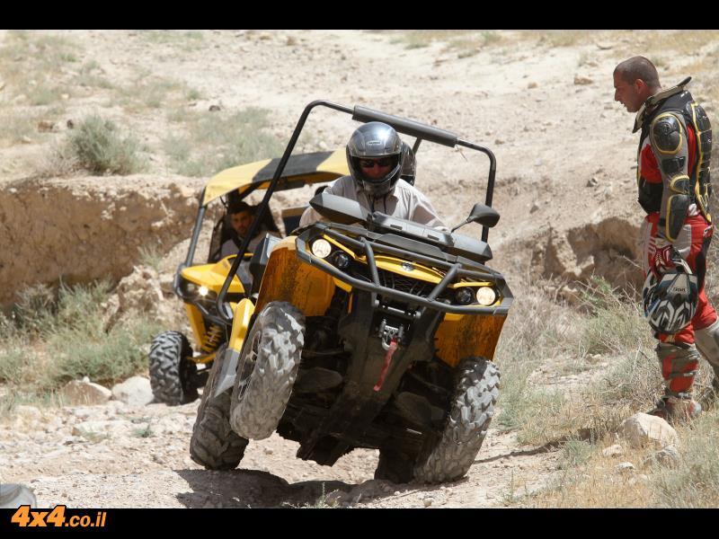 מועדון טרקטורונים קאן-אם במסע עבירות בבקעת הירדן