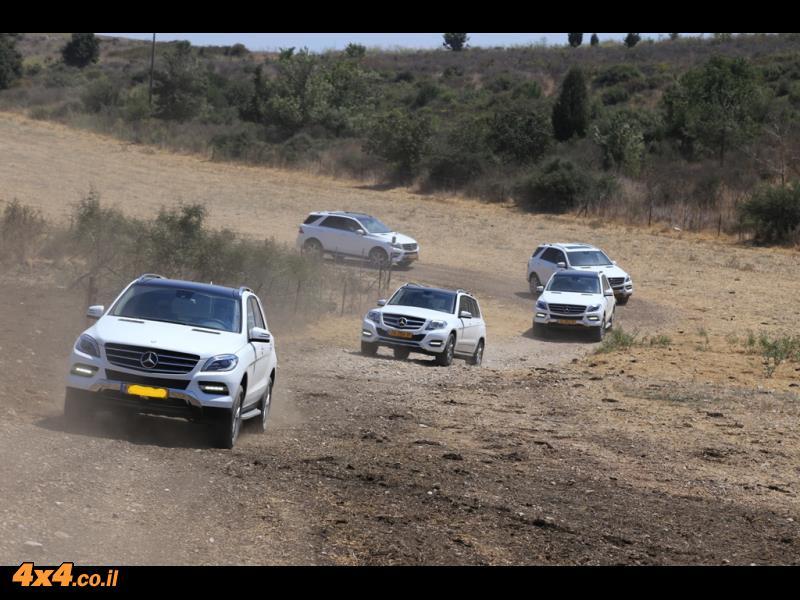 מרצדס SUV בהדרכת נהיגה - הר חורשן