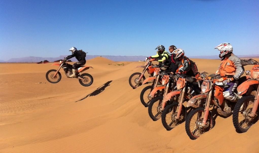 מרוקו - מסע אופנועי שטח חוצה הרי האטלס והדיונות של הסהרה