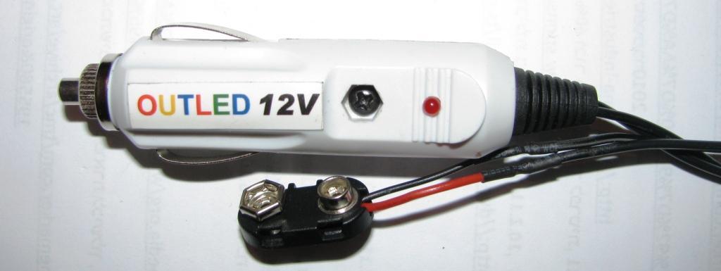 שרשרת תאורת לד למצת הרכב או לסוללת 9V