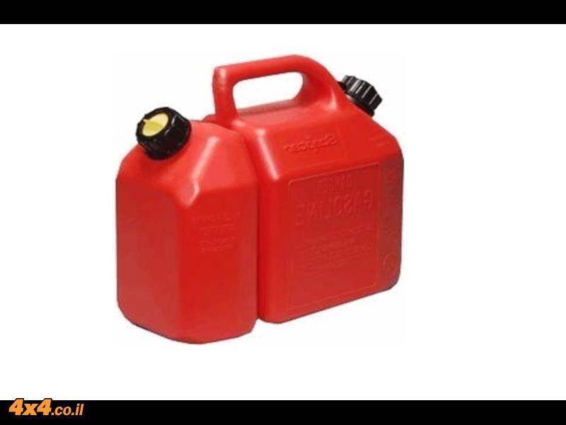 ג'ריקן מיכל דלק משולב - דלק ושמן