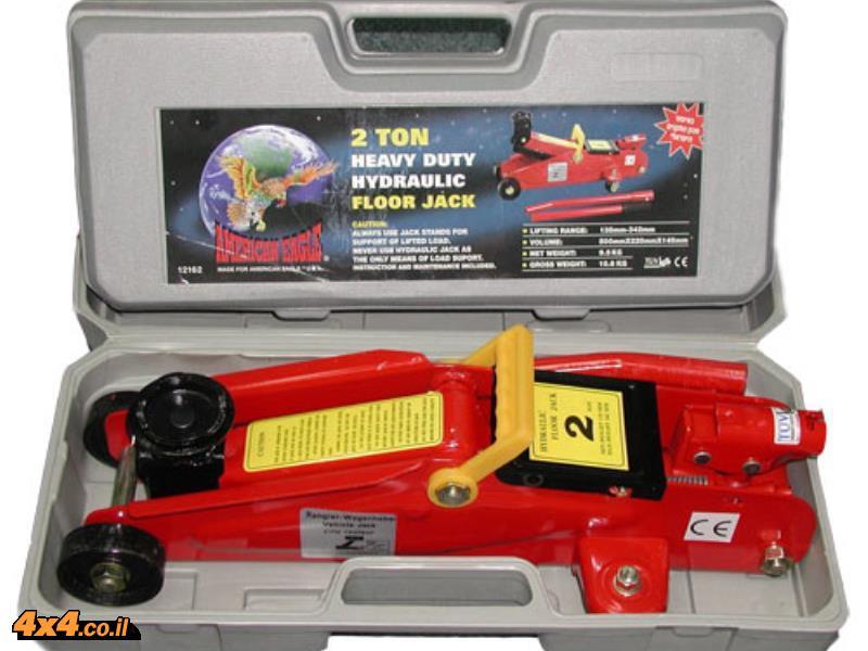 מגבה ג'ק הידראולי על עגלה 2 טון במזוודה