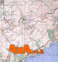 מפת סימון שבילים טופוגרפית מצופה