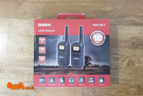 זוג מכשירי קשר ווקי טוקי Uniden